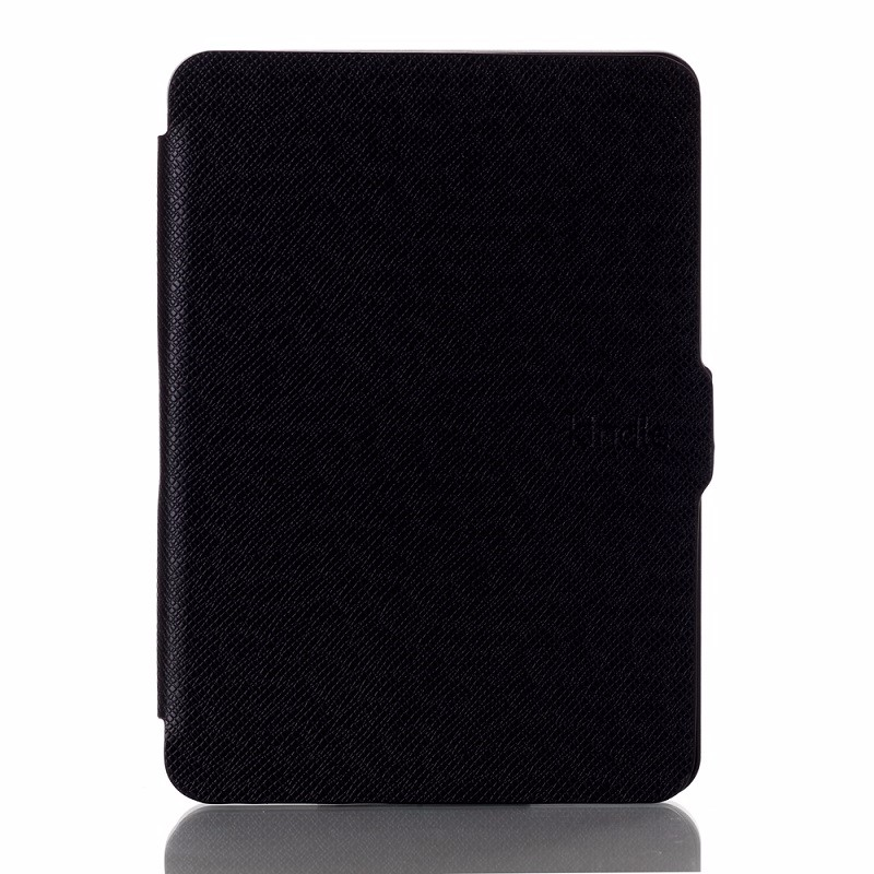 black pu leather ebook case for amazon kindle voyage (2)