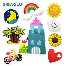 Sun Flower Tree fridge magnets Silicon whiteboard Animal sticker Refrigerator Magnets Kids Message post gift Home Decoratio PVC
