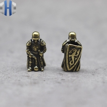 Ranger Soldier Brass Knife Beads Personality Skull EDC Keychain Pendant Hanging Rope Paracord