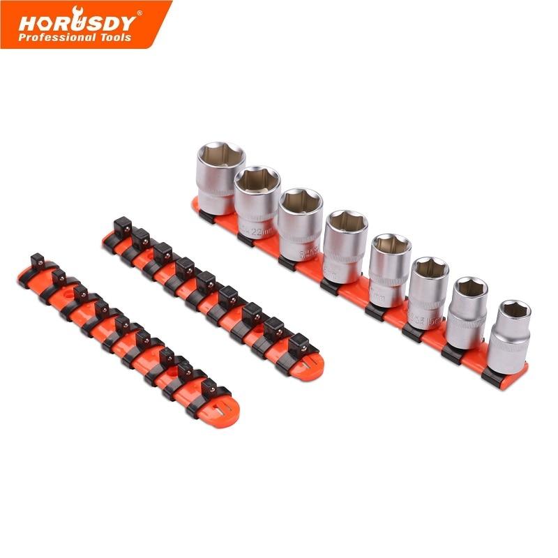 26 Pc Mixte Socket Rail Ensemble De Stockage De 1/2 3/8 1/4 Titulaire Disque Grip Organisateur