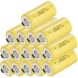 15 шт. SC батареи subc аккумуляторная батарея ni-cd Замена для Hiliti 1,2 В элемент для Makita 1300 мАч SC аккумулятор