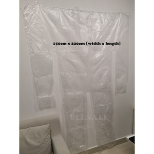 Image 5 - New 10pcs Disposable Waterproof PE Plastic Clear Sauna Coverall Sweat Body Suit For Beauty Salon Gym Clothes Suit Weight Loss