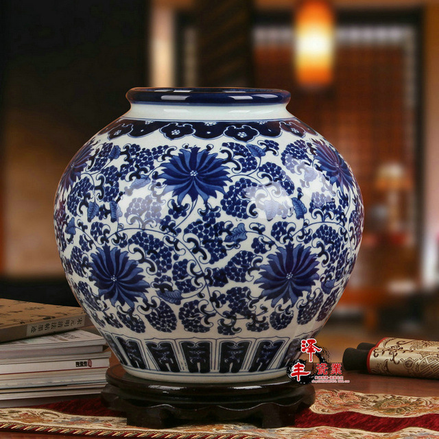 Jingdezhen Chinese Porcelain Vase Antique Blue And White Ceramic