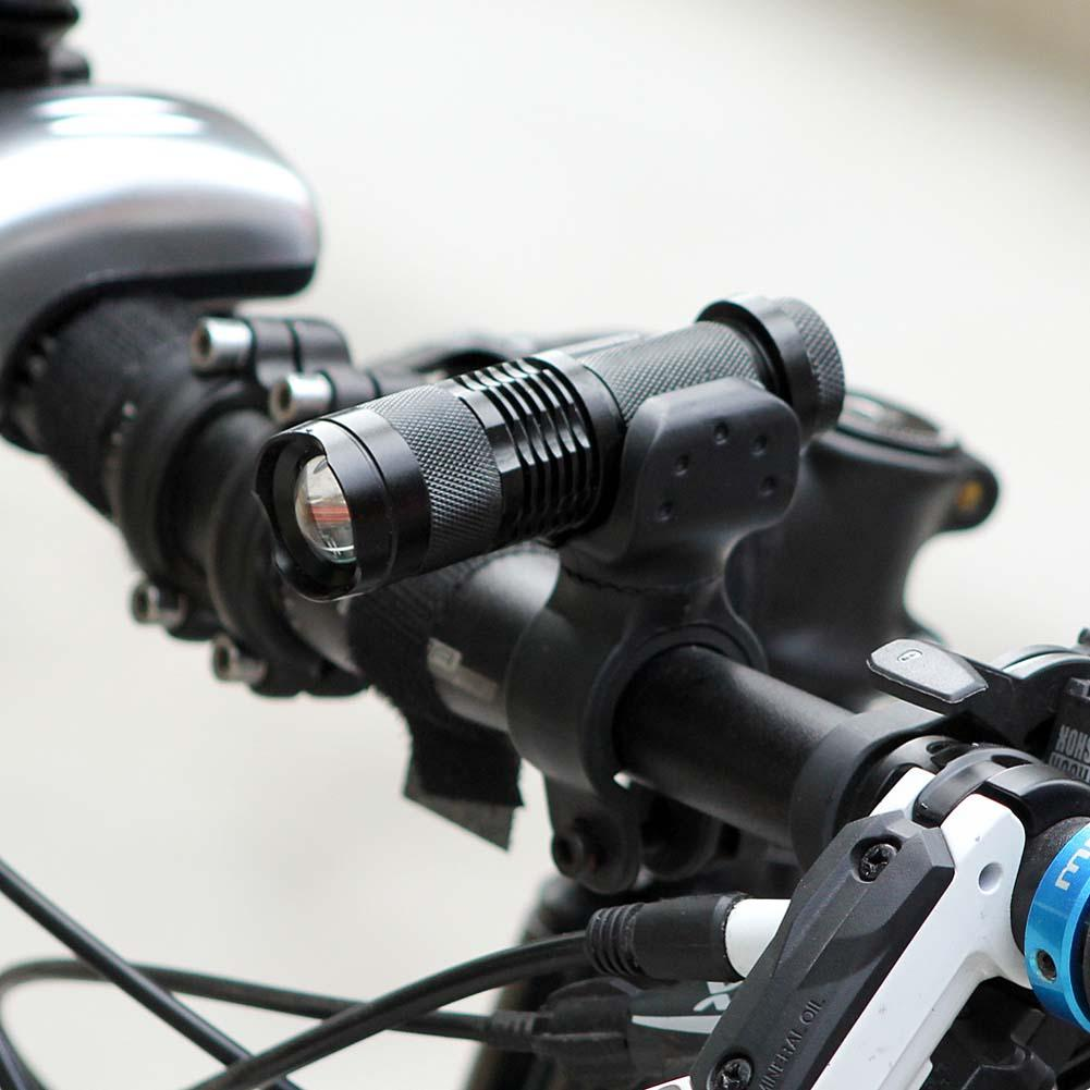 3 Mode LED Bike Bicycle Light Flashlight Cycling Front Zoomable Light Lamp Torch