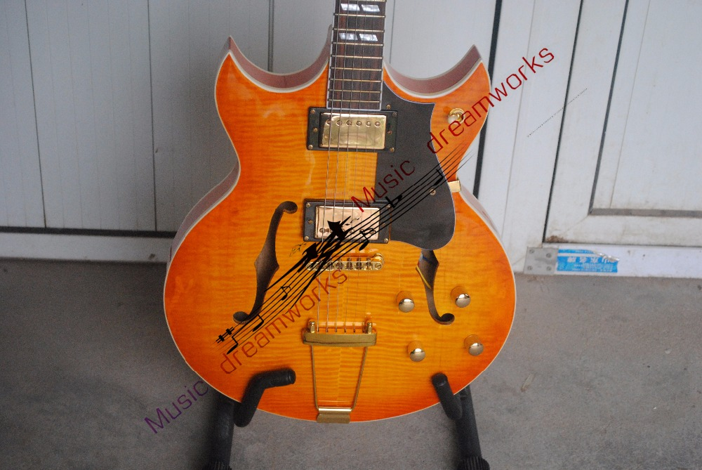 China Top quality firehawk OEM shop   Electric Guitar Electric hollow jazz guitar   EMS free shipping The color can be changed china s es p guita wholesale newest explorer electric guitar high quality ems free shipping free shipping