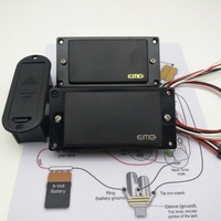 new guitar pickups emg 81/85 active pickups bridge and neck pickups with installation  circuit