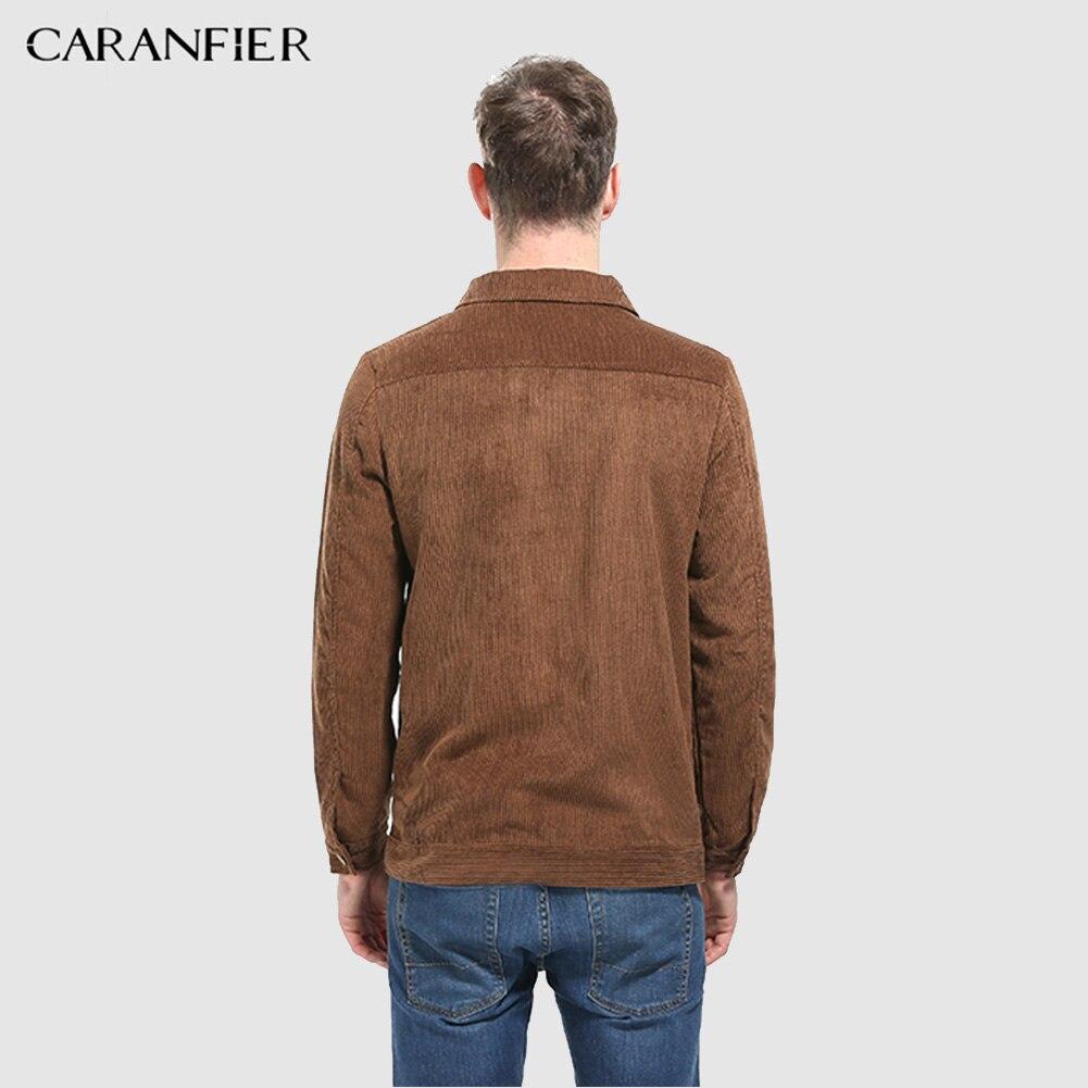 Gris Manteaux Rayure Velours Automne Style camel Lâche Mode Casual All match Caranfier Veste Hommes Vestes Côtelé Solide Pour Poches qn7Bz8wxT