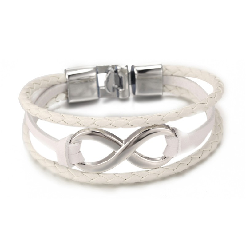 Großhandel New Fashion Schwarz plattiert Infinity Armband Echt - Modeschmuck - Foto 6