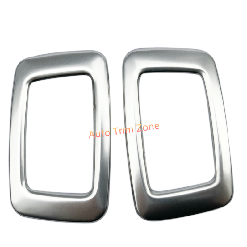 Stainless Steel 2 PCS Interior Rear Roof Dome Courtesy Lamp Trim For Volvo XC90 2015-2018/XC60 2018