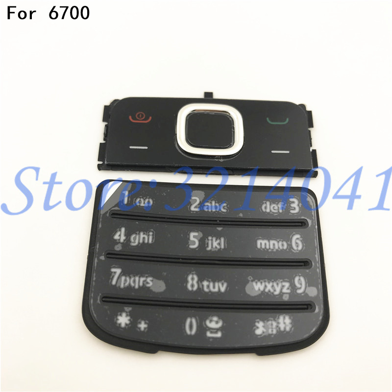 Original New For <font><b>Nokia</b></font> <font><b>6700</b></font> 6700C Classic <font><b>Housing</b></font> Keypad Mobile Phone 6700C Keyboard Replacement English Or Russian Keypad image