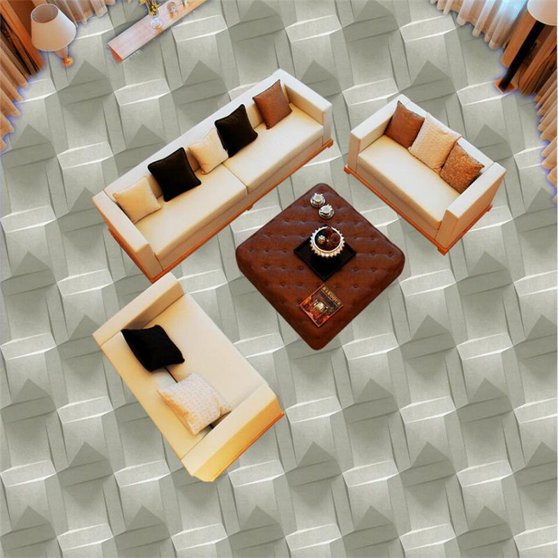Купить с кэшбэком wellyu Modern three - dimensional geometric abstract pattern 3D flooring custom large - scale murals pvc thick floor paste