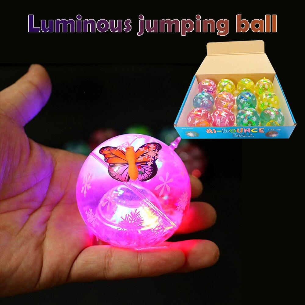 Мигающий Прыгающий мячик свет танцы мяч игрушка резиновый прыгающий мяч весело хрустальный шар светящиеся резиновые спортивные игрушки