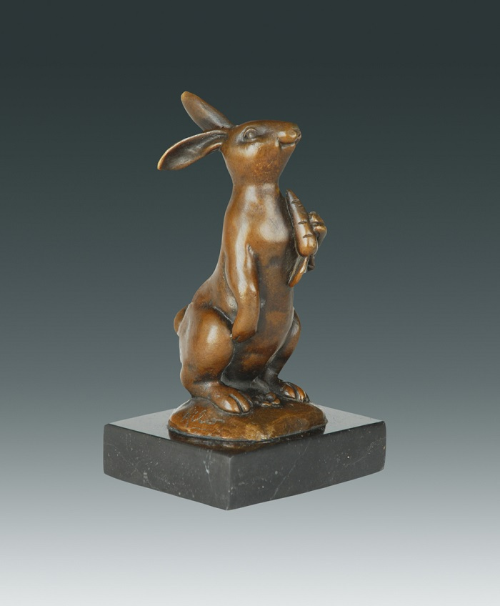 Feng shui Lucky Birthday Gift Chinese zodiac  Rabbit  bronze statue Little rabbit with CarrotFeng shui Lucky Birthday Gift Chinese zodiac  Rabbit  bronze statue Little rabbit with Carrot