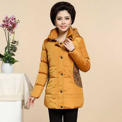 4XL Plus Size Woman Winter Jacket Coat Medium Long Style Padded Coat Thicken Warm Hooded Parkas Mother Winter Outerwear A4255 2015 new hot winter thicken warm cold woman down jacket coat parkas outerwear hooded luxury long plus size xl straight leisure