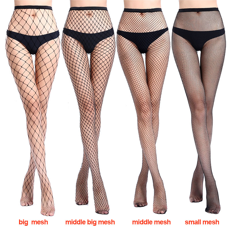Stockings Grid Long Fashion Sexy Fishnet Stockings Fishnet Pantyhose Mesh Stockings Underwear Hot Thighs Stockings