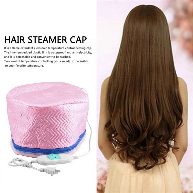 US Plug 1Pcs Electric SPA Hair Care Cap Thermal Treatment Electric Hair Beauty Steamer SPA Nourishing Hair Dryers Heat hair care professional electric salon thermal beauty steamer spa nourising hair barbers cap heated hairdressing style cap tools