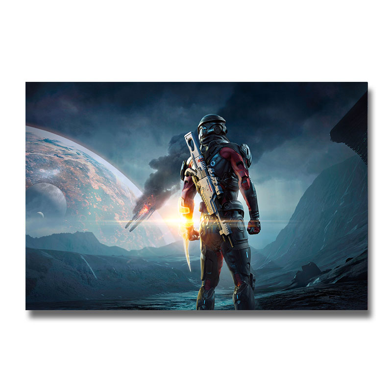 Mass Effect 2 3 4 Game Silk Poster Wall Art Print 12x18 24x36 inch Decorative Pictures Wallpaper Living Room Decoration 005(China)