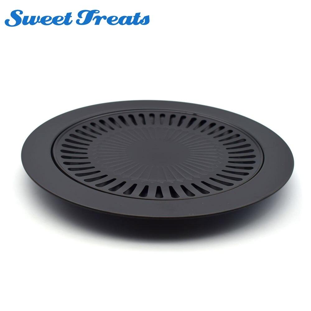 Sweettreats 1 piezas estilo coreano no-stick sin humo barbacoa Pan parrilla Cocina Barbacoa plato cocinar cocina pan