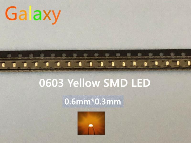 25 huiyuan LEDs diodo emisor 0603y1c-kha-c LED SMD 0603 claro amarillo 120mcd 857160
