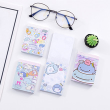 Cartoon Lovely Whale doll Note book Originality six colors 100 sheets guestbook Small kawaii pocket notebook memo pad stationery