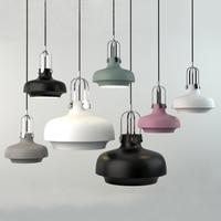 Newest Modern Led Pendant Lights 40W AC110V 220V E12 Simple Pendant Light Painted Surface Aluminum Pendant Lamp With Black Cord