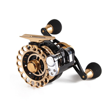 купить Metal Fish Line Reel 2.6:1 10+1 Bearing Balls Left Handle or Right Handle Fishing Reel Super Quality EVA Handle Reel Fishing дешево