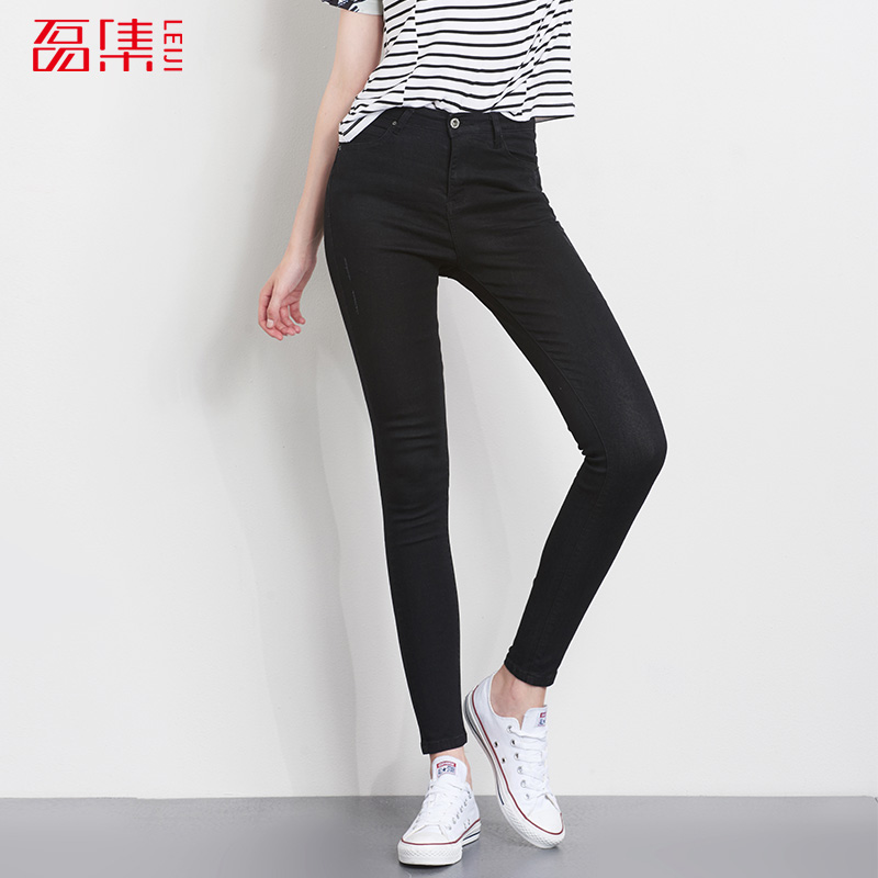 Leiji Fashion jeans women High Elastic Plus Size Women Skinny Jeans Pencil Denim pants woman Full Length casual Mid Waist 4xl plus size high waist elastic jeans thin skinny pencil pants sexy slim hip denim pants for women euramerican