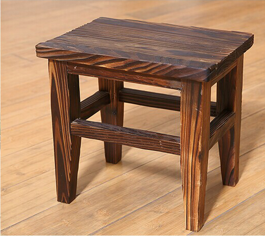100% Wooden Dinging Stool,wood Furniture,garden Style Stool,bathroom Chair,