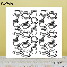 AZSG Various Cups Coffee Drink Clear Stamps/Seals For DIY Scrapbooking/Card Making/Album Decorative Silicone Stamp Craft