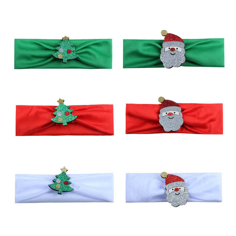 1pcs Cute Santa Headbands Xmas Kids Baby Girl Christmas Headband 2017 New Hot Sale Hair Band Bebes Lovely Accessories Headwear