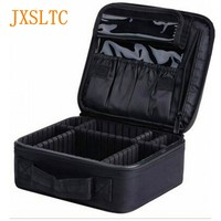JXSLTC High Quality Professional Empty Makeup Organizer Bolso Mujer Cosmetic Case Travel Large Capacity Storage Bag