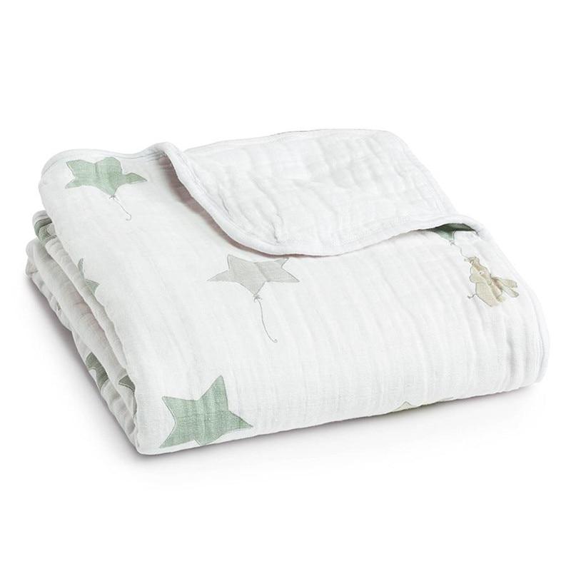 Multifunctionele Aden Anais Baby Dubbellaags Deken voor Lente Herfst Zuigeling Swaddle Beddengoed Quilt Reizen Handdoek Size 110X110 cm