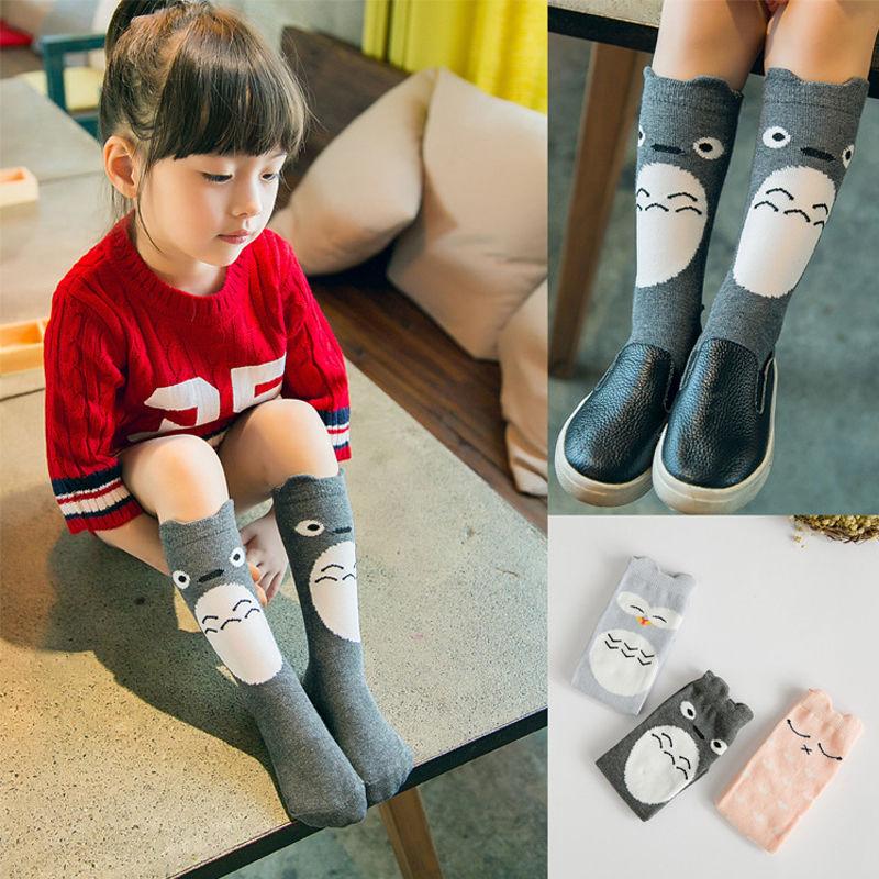 1 Paar Mode Baby Kinder 0-4 Jahre Katoon Für Kleinkinder Kinder Mädchen Schöne Knie Hohe Gekämmte Baumwolle Socken Strumpfwaren