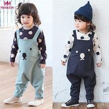 Одежда для маленьких мальчиков и девочек зима-осень Дети для маленьких мальчиков девочек Комбинезон с медвежонком ремень комбинезон Детские комбинезоны