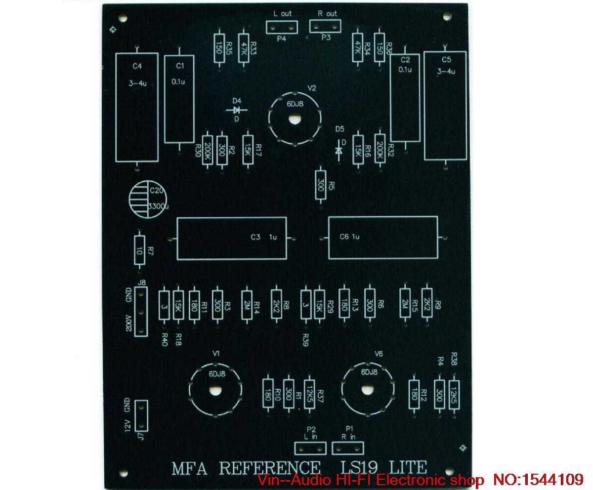 1PCS VIN LS19 (MFA line ) tube preamp empty plate 6922 X3 support FREE SHIPPING1PCS VIN LS19 (MFA line ) tube preamp empty plate 6922 X3 support FREE SHIPPING