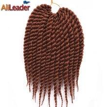 Alileader HAVANA Мамбо твист Моноволокно джамбо коса 7 шт, 12 корни коричневый белый серый вязанный косами Синтетические пряди для наращивания волос