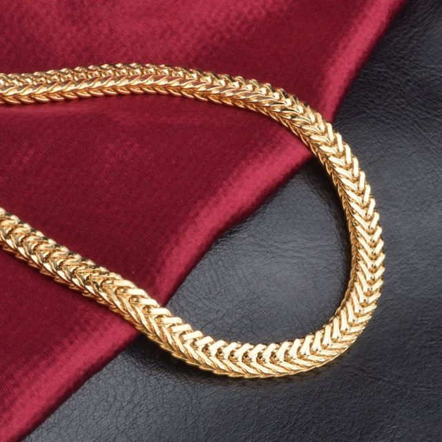 18K Gold Plated Vintage Men's Chain Necklace 2