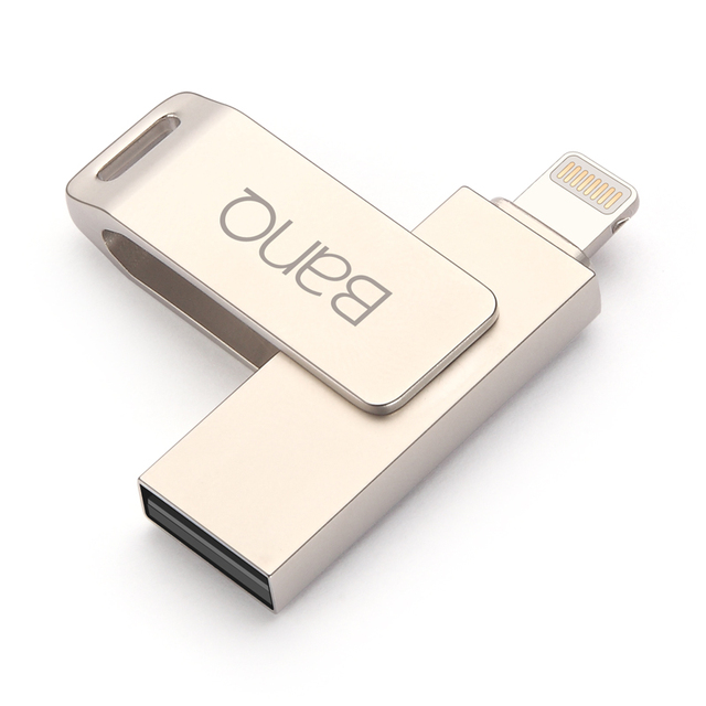 BanQ A6S For iPhone OTG USB Flash Drives 128G 64G 32G Capacity Expansion For iPhone5/5s/5c/6/6s/6plus ipadAir/Air2,Mini/2/3 IPOD