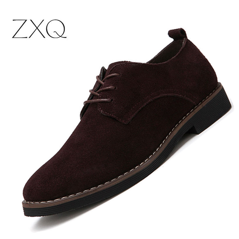 Plus Size 38-48 Oxford Men Shoes PU Suede Leather Spring Autumn Casual Men Leather Shoes Male Dress ShoesPlus Size 38-48 Oxford Men Shoes PU Suede Leather Spring Autumn Casual Men Leather Shoes Male Dress Shoes