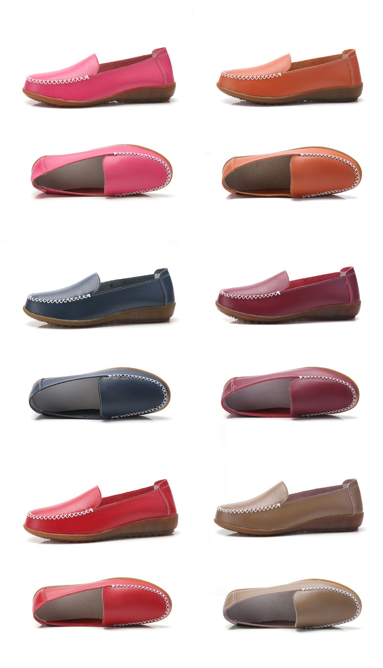 XY 518-2019 Genuine Leather Women's Shoes Soft Woman Loafers-19