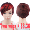 Promotional Products Synthetic Wigs for Women Sale Short Female Wig Synthetic Short Straight Red Wig Synthetic Wigs Women Short