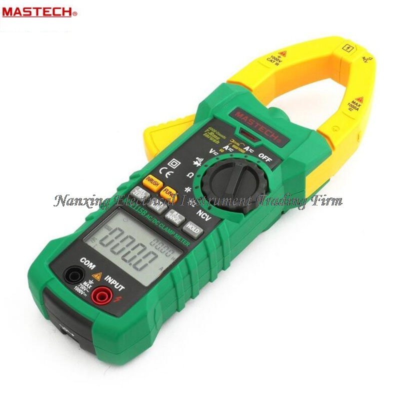 MASTECH MS2115B Digital AC/DC Clamp Metewith 6000 Counts NCV True RMS AC/DC Voltage Current Tester Detector with USB uyigao ua6050a 3 1 2 ac digital clamp meter 1500a with ncv