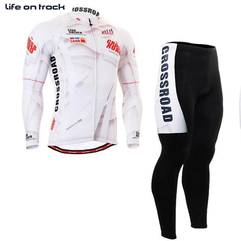 Ombre rayure impression Jersey blanc couleur hommes vtt hauts et bas cyclisme Strava Jersey à manches longues vélo vêtements