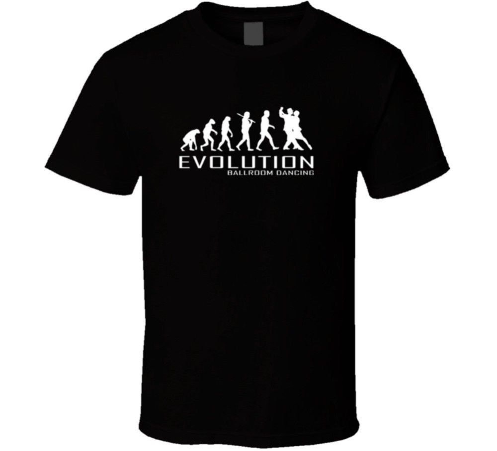 Adults Casual Tee Shirt Short Sleeve Ballroom Dancing Ape To Of Evolution Dance Fashion Crew Neck T Shirts For Men ...