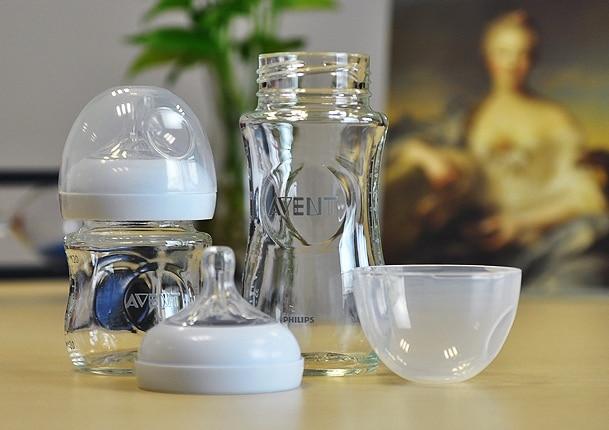 مجموعة 2 الأصلي أفانت الطبيعي الزجاج زجاجة أفانت الوليد الطفل زجاجة تستخدم في الرضاعة 4 أوقية 120 مللي + 8 أوقية 240 مللي 0 متر +/1 متر + 1