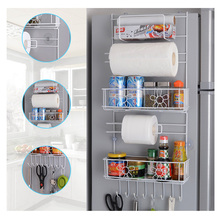 1 Pc White Folding Rack Home Outside Hang Multifunctional Storage Rack Hook Type Storage Shelf High Quality