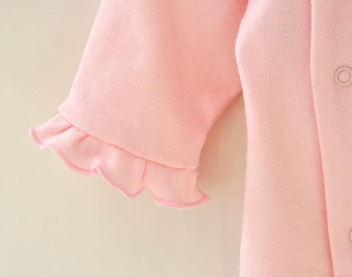 HTB1YxM1JFXXXXaKXXXXq6xXFXXXX - 2 Pcs Newborn Girl Organic Cotton Hello Kitty Romper Set Baby Cute Pink Jumpsuit with Hat New Born Ruffled Collar Bowknot Outfit