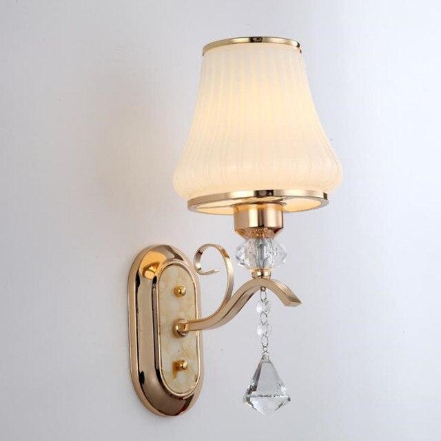 Led Créative Chambre Applique Couloir Escalier Doré Hôtel Jipush Décoré Ingénierie Lampe Frontale Cristal lcFKT1J