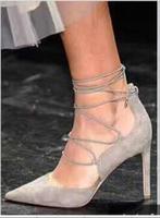 Kaeve модные серые/черные замшевые Обувь острый носок Дата Visvim на очень высоком Женские сандалии