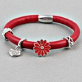 ZMZY Top Quality Genuine Leather Bracelet Endless Bracelets for Heart Charms 1 Layer